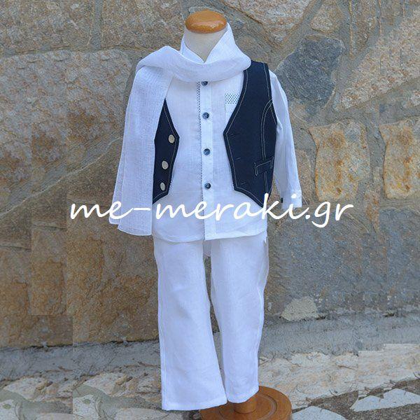 58b5b7fb6f23 Βαπτιστικά ρούχα αγόρι ΒΚΑ47 | Ρούχα βάπτισης αγόρι | me-meraki.gr