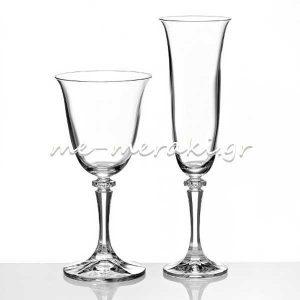 Ποτήρια Αρραβώνα-Γάμου Κρυστάλλινα