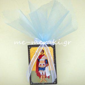 Μπομπονιέρα Βάπτισης Εικόνα Ξ0034