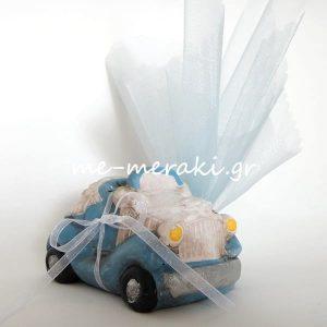Μπομπονιέρα Βάπτισης Κουμπαράς Αυτοκίνητο