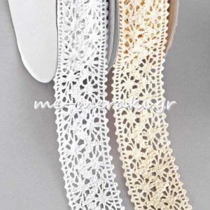 Δαντέλα Βαμβακερή Κορδέλα 35 mm