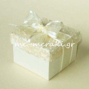 Μπομπονιέρα Γάμου Κουτί Χάντρες