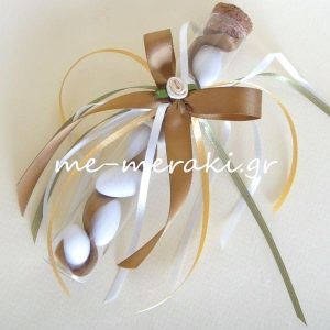 Μπομπονιέρα Γάμου Σωλήνας Σατέν Κορδέλα