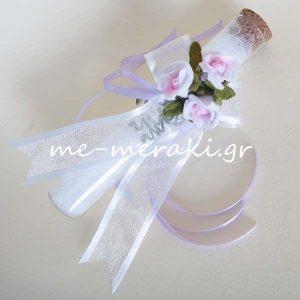 Μπομπονιέρες Γάμου Γυάλινος Σωλήνας Λουλούδια