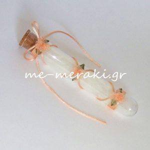 Μπομπονιέρα Γάμου Σωλήνας Οργαντίνα Λουλούδια