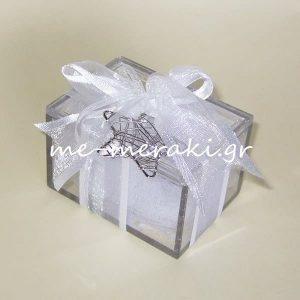 Κλασικές Μπομπονιέρες Γάμου Κουτί plexiglass Αστέρι Κ10062