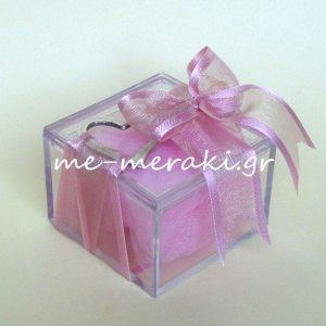Μπομπονιέρα γάμου κουτί plexiglass καρδιά