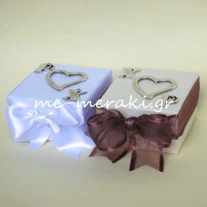 Μπομπονιέρες Γάμου Κουτί Μονογράμματα Καρδιά