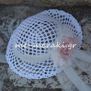 Βαπτιστικό καπέλο κορίτσι ΒΦΚ551-Β