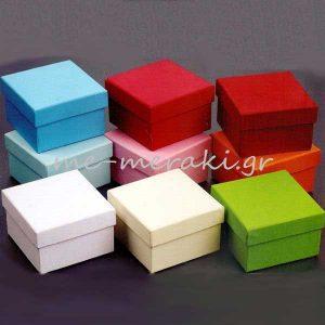 Κουτιά Μονόχρωμα για Μπομπονιέρες