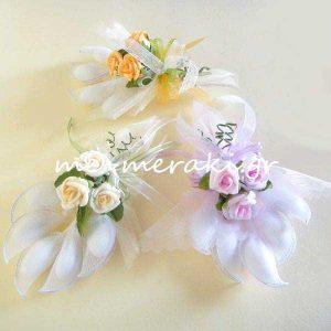 Μπομπονιέρα Γάμου Οργαντίνα Τριαντάφυλλα