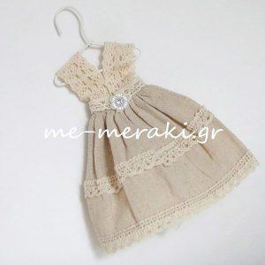 Μπομπονιέρα Βάπτισης Φόρεμα Π014