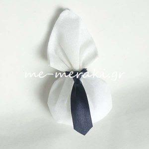 Μπομπονιέρα Πουγκί με γραβάτα Π051