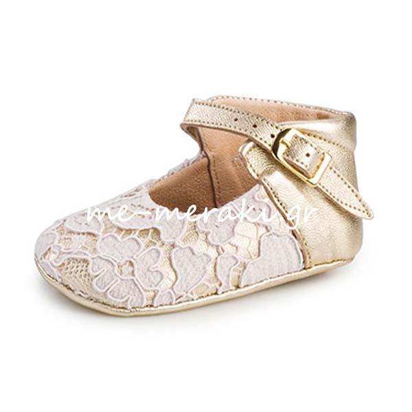 06bff794861 Παπούτσια Αγκαλιάς Κορίτσι ΠΑΚΟ1033 | Παπούτσια βάπτισης | me-meraki.gr