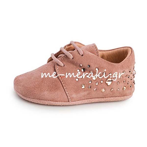 872ce045172 Παπούτσια Αγκαλιάς Κορίτσι ΠΑΚΟ1034   Παπούτσια βάπτισης   me-meraki.gr
