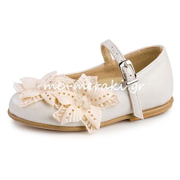 d7c23c170d8 Παπούτσια βάπτισης κορίτσι ΠΑΚΟ119 | Παπούτσια βάπτισης | me-meraki.gr