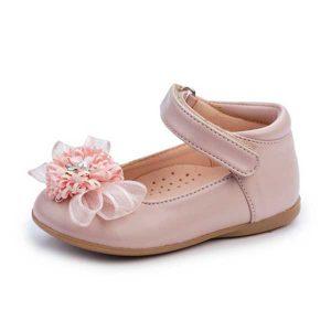 Παπούτσια για Βάπτιση με Λουλούδι