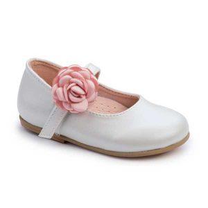 Παπούτσια Βάπτισης με Λουλούδι