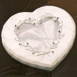 Στεφανοθήκη γάμου φίλντισι καρδιά