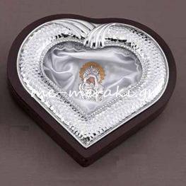 Στεφανοθήκη γάμου καρδιά