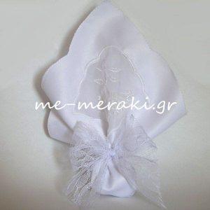 Μπομπονιέρα Γάμου Μαντήλι Δαντέλα