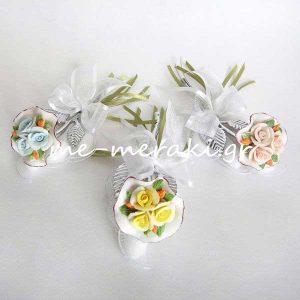 Μπομπονιέρα Γάμου Λουλούδι Μπουκέτο