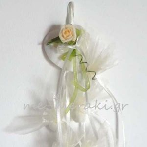Κρεμαστή Μπομπονιέρα Γάμου Καρδιά Φίλντισι