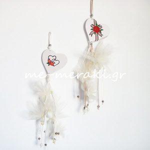 Μπομπονιέρα γάμου κρεμαστή ΤΚ042