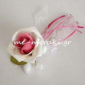 Μπομπονιέρα Γάμου Τριαντάφυλλο δίχρωμο ΤΚ047-Α