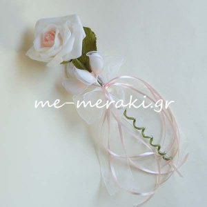 Μπομπονιέρες Γάμου Λουλούδι Δίχρωμο