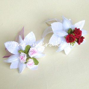 Μπομπονιέρες Γάμου Λουλούδια με Φυλλαράκια