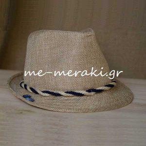 Βαπτιστικό Καπέλο Μπεζ