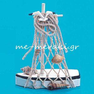 Μπομπονιέρα Βάπτισης Ξύλινο Καράβι