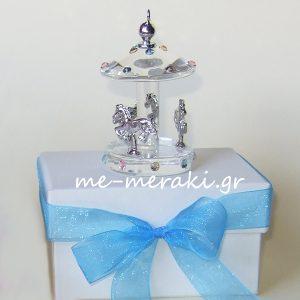 Μπομπονιέρα βάπτισης κουτί Κ10069