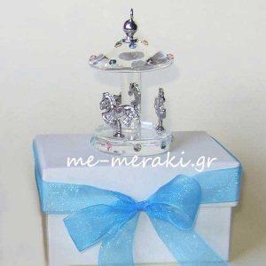 Μπομπονιέρα βάπτισης Καρουζέλ Κουτί