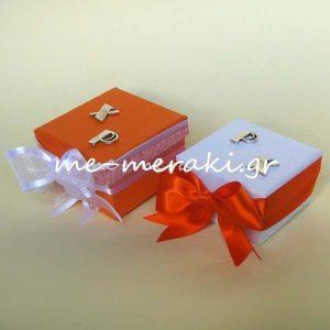 Μπομπονιέρες Γάμου Κουτί Μονογράμματα