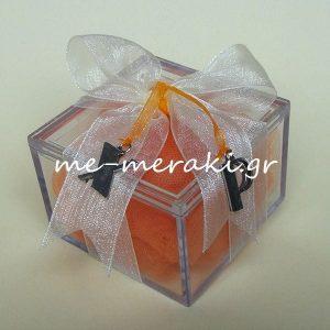 Μπομπονιέρα Κουτί Plexiglass Μονογράμματα