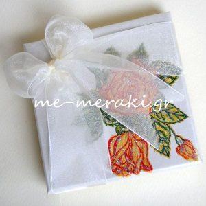 Μπομπονιέρα Γάμου Τριαντάφυλλα Ζωγραφισμένα