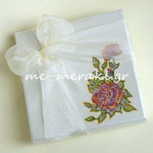 Μπομπονιέρα Κουτί Ζωγραφισμένο Τριαντάφυλλο