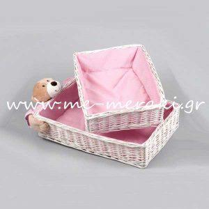 Καλάθια Ροζ με Αρκουδάκι