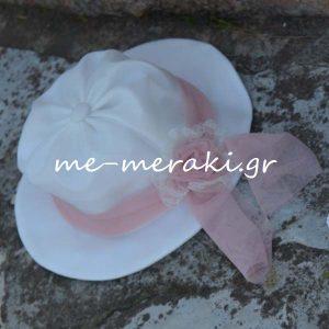 Βαπτιστικό Κλασικό Καπέλο Κορίτσι