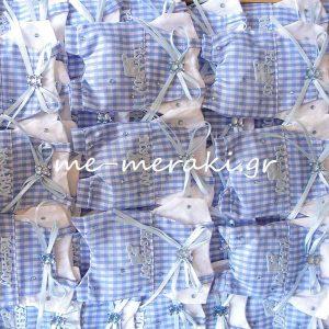 Μπομπονιέρα Πουγκί Φόρεμα-Σαλοπέτα