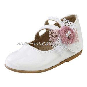 Παπούτσια Λουστρίνι με Λουλούδι