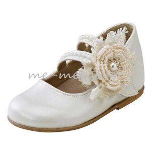 Παπούτσια με Πλεκτό Λουλούδι