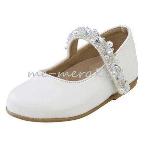 Παπούτσια Βάπτισης με Πέρλες