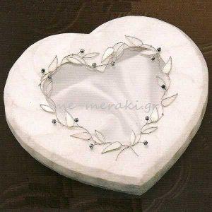 Στεφανοθήκη Γάμου Καρδιά Φίλντισι