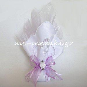 Μπομπονιέρα Γάμου Μαντήλι Κοφτό-οργαντίνα Τ17-Α