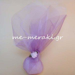 Μπομπονιέρα Γάμου Τούλι Λουλούδι