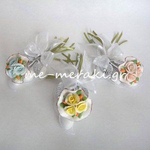 Μπομπονιέρα Γάμου Λουλούδι Κεραμικό