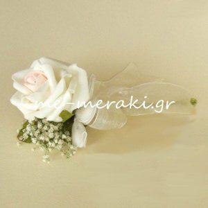 Μπομπονιέρα Γάμου Τριαντάφυλλο Ανθάκια
